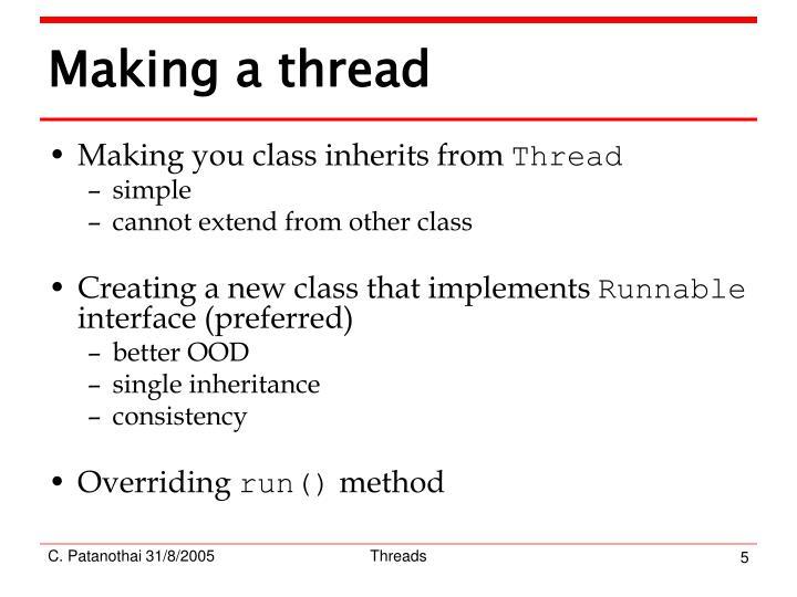 Making a thread