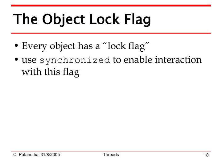 The Object Lock Flag
