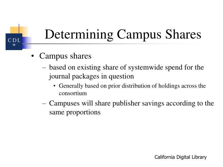 Determining Campus Shares