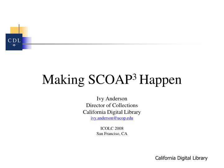 Making SCOAP