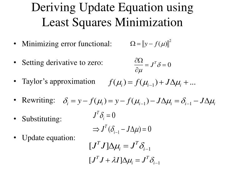 Deriving Update Equation using