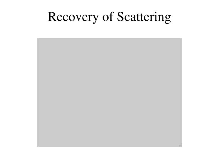 Recovery of Scattering