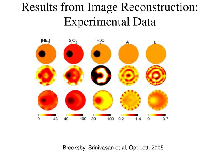 Results from Image Reconstruction: