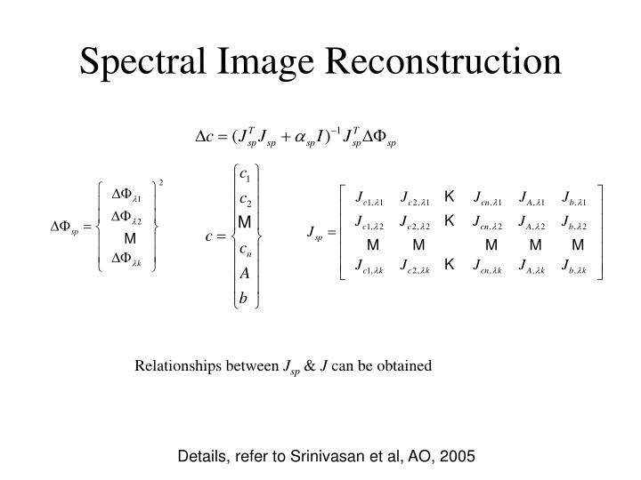 Spectral Image Reconstruction