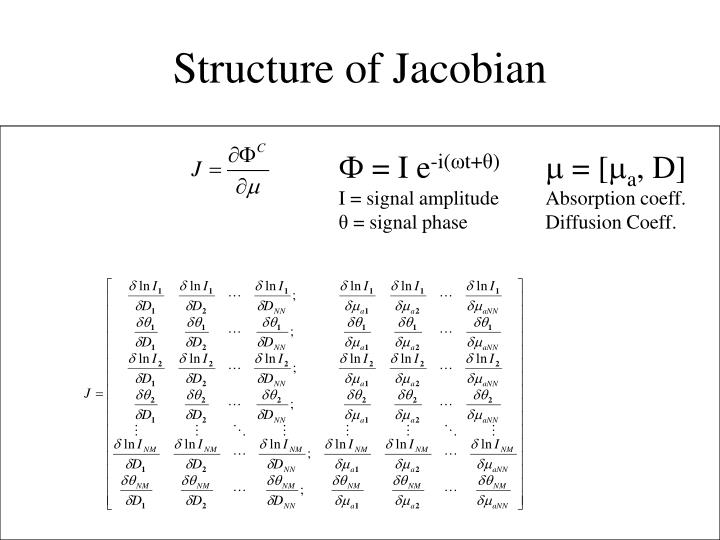 Structure of Jacobian