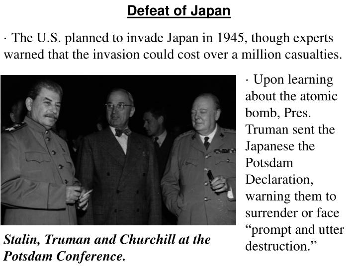 Defeat of Japan