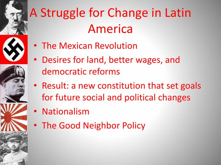 A struggle for change in latin america