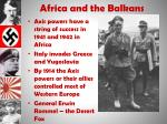 africa and the balkans