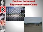 dachau labor and experimentation camp