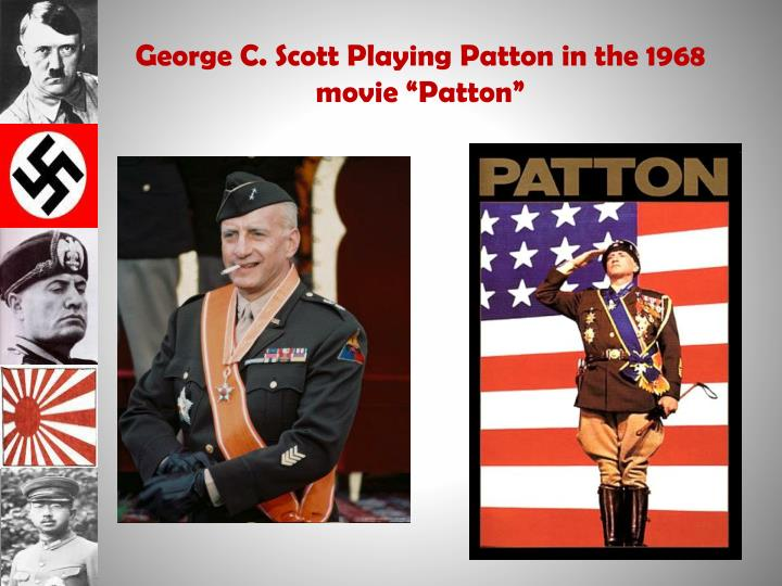 "George C. Scott Playing Patton in the 1968 movie ""Patton"""