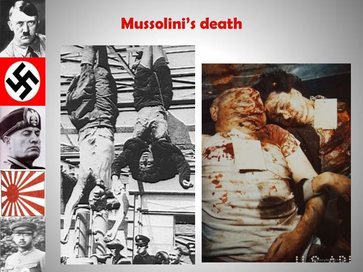 Mussolini's death