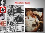 mussolini s death