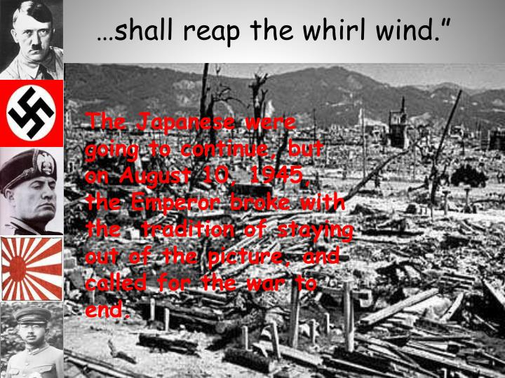 …shall reap the whirl wind.""
