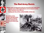 the red army resists