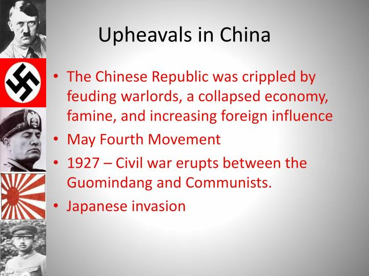 Upheavals in China