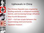 upheavals in china