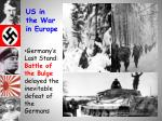 us in the war in europe