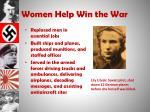 women help win the war