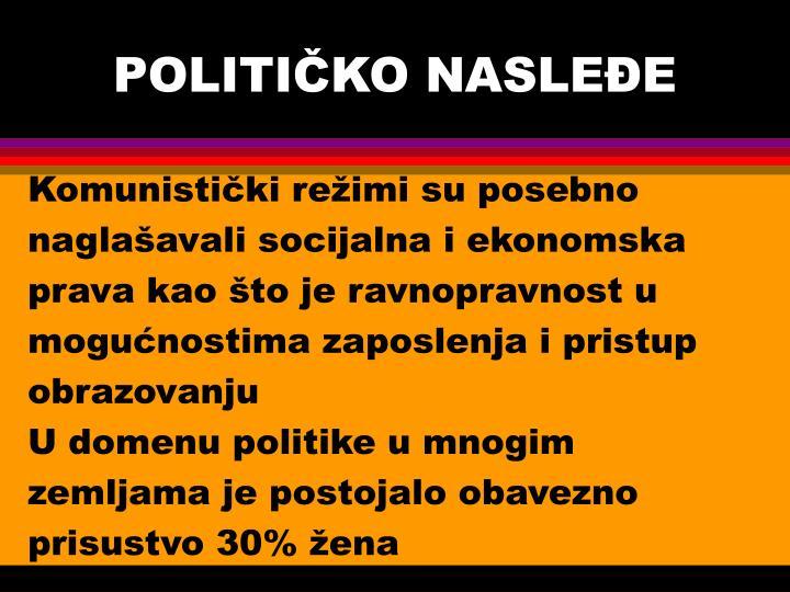 POLITIČKO NASLEĐE