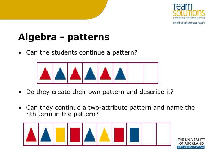 Algebra - patterns