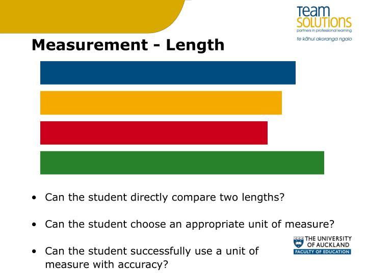 Measurement - Length