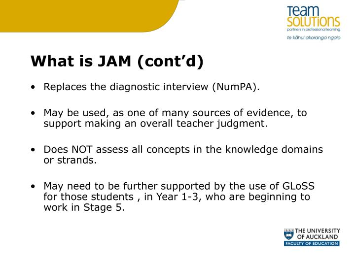 What is JAM (cont'd)