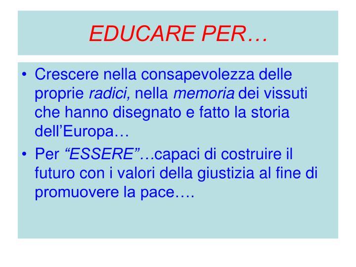 EDUCARE PER…