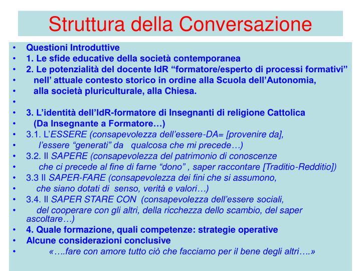 Struttura della Conversazione