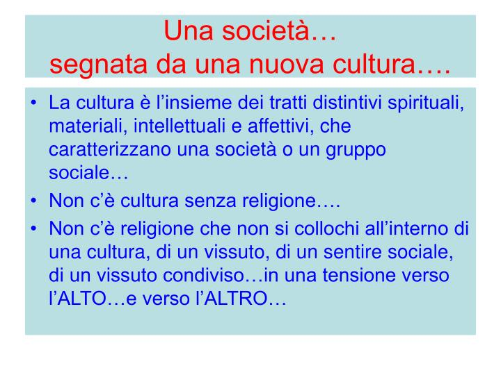 Una società…