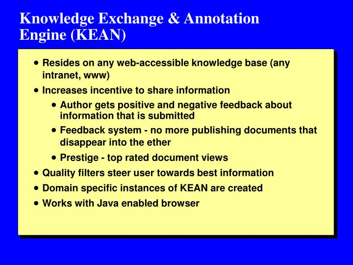 Knowledge Exchange & Annotation