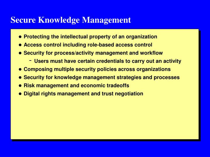 Secure Knowledge Management
