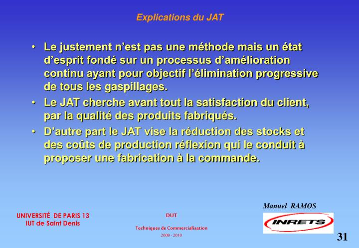Explications du JAT