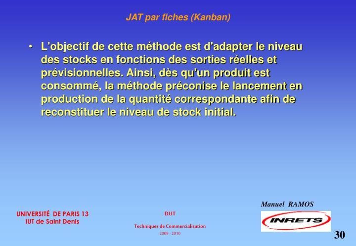 JAT par fiches (Kanban)