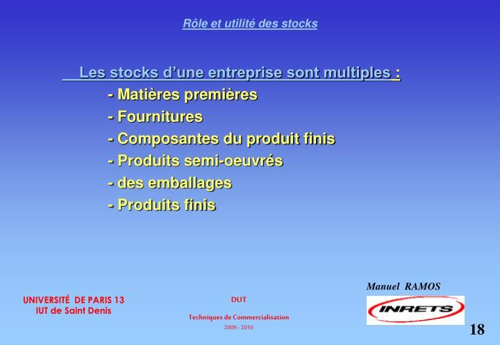 Rôle et utilité des stocks