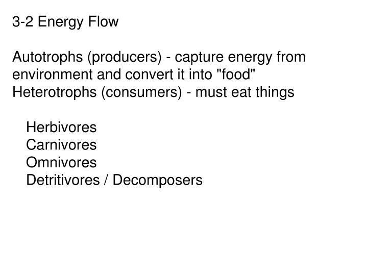 3-2 Energy Flow