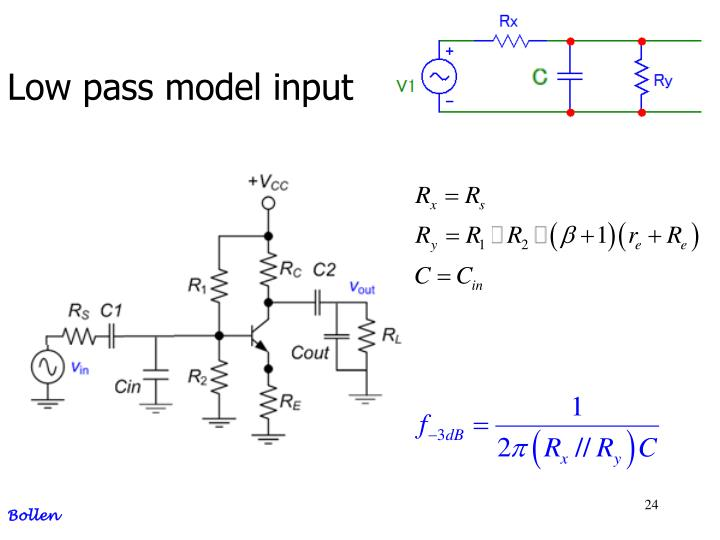 Low pass model input