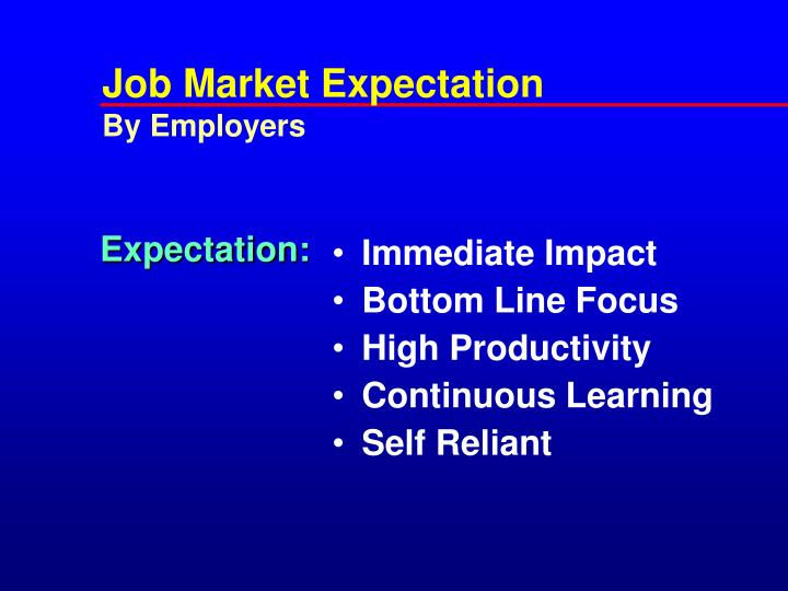 Job Market Expectation