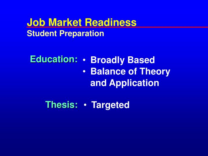 Job Market Readiness