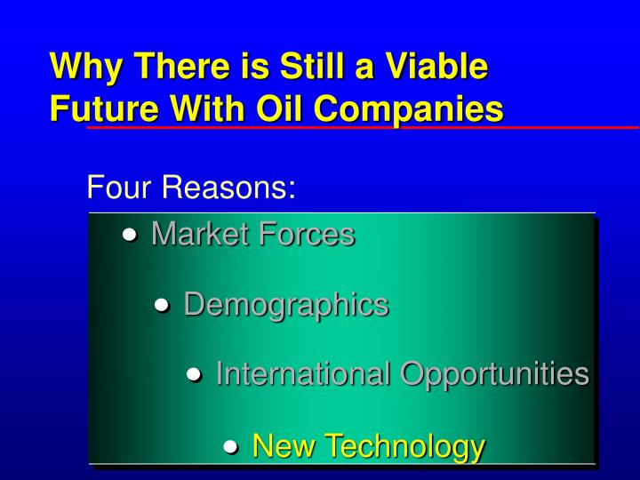 Why There is Still a Viable Future With Oil Companies