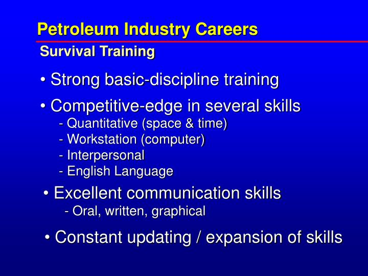 Petroleum Industry Careers