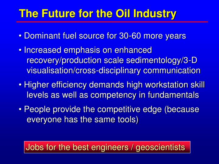 Jobs for the best engineers / geoscientists