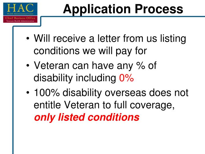 Will receive a letter from us listing conditions we will pay for