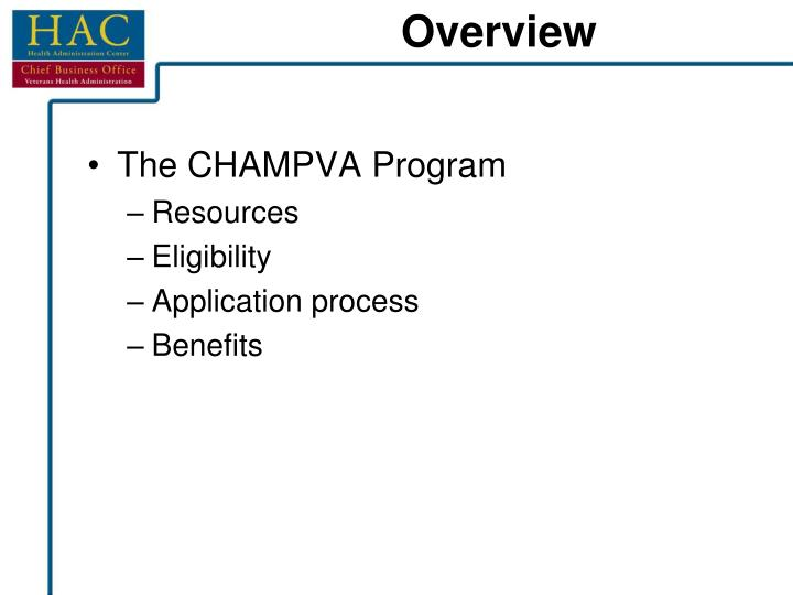 The CHAMPVA Program