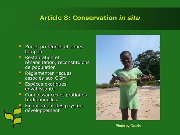 Zones protégées et zones tampon
