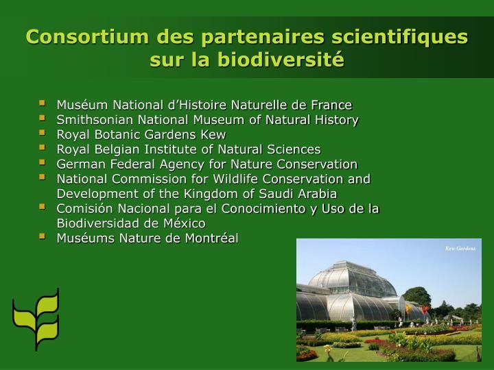 Consortium des partenaires scientifiques sur la biodiversité