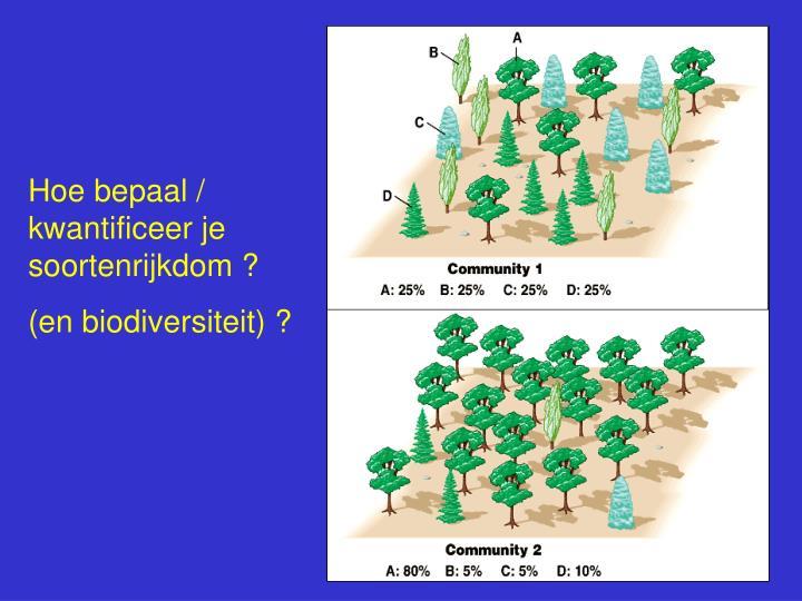 Hoe bepaal / kwantificeer je soortenrijkdom ?