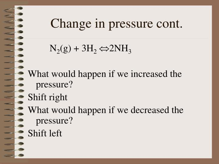 Change in pressure cont.
