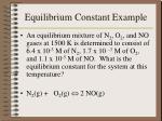 equilibrium constant example
