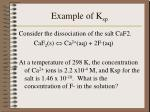 example of k sp