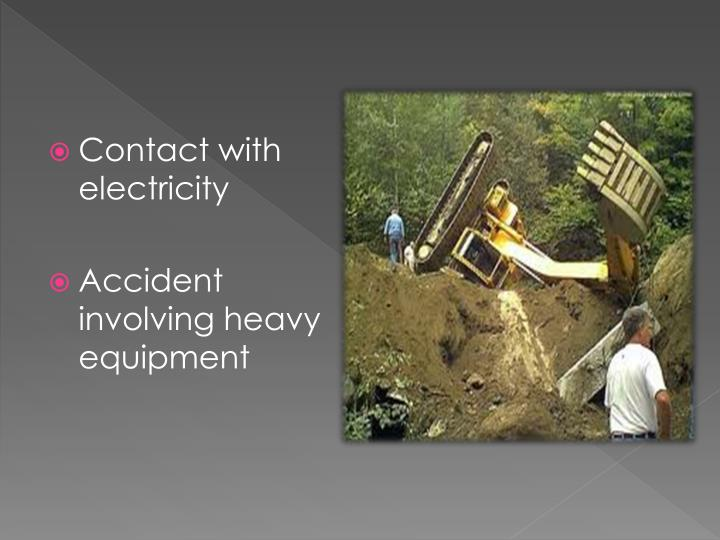 Contact with electricity